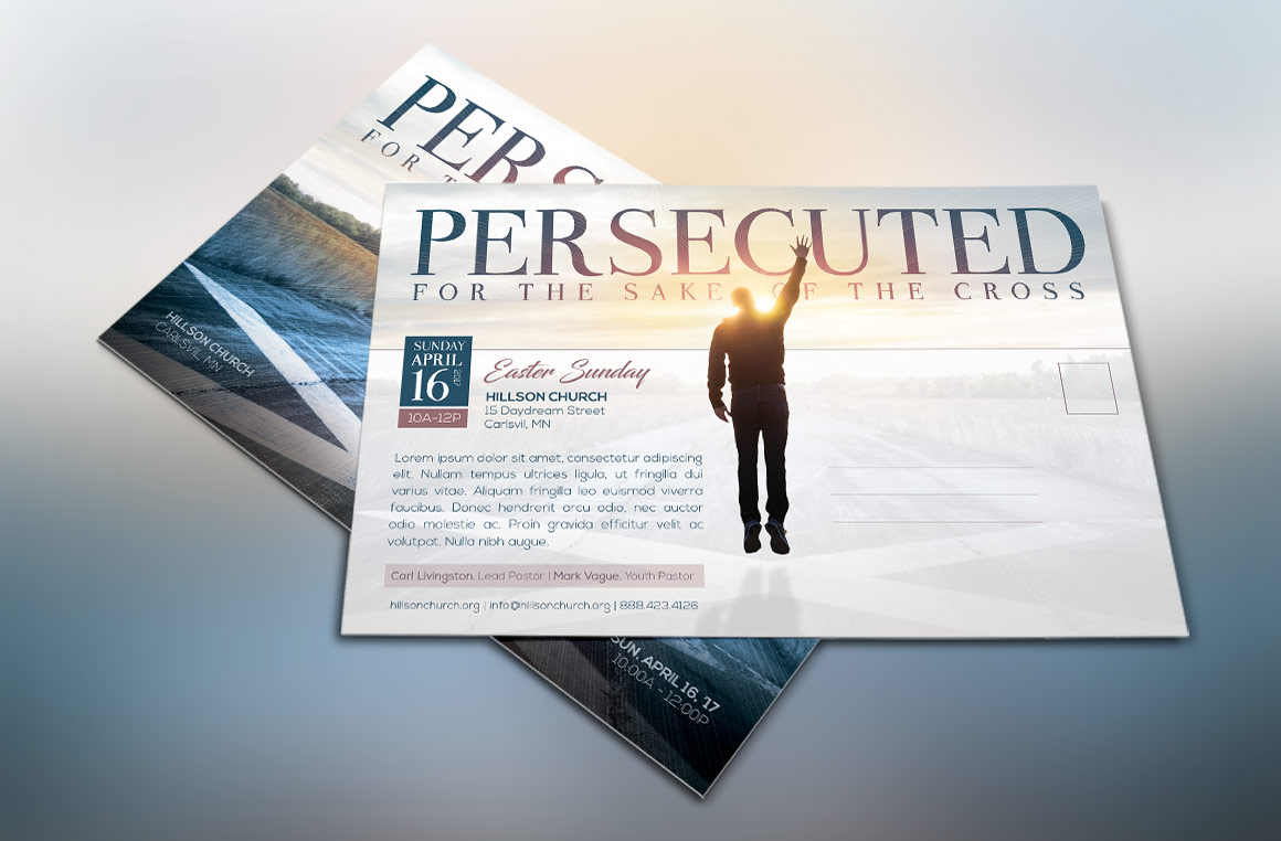 Persecuted Church Flyer Template example image 2