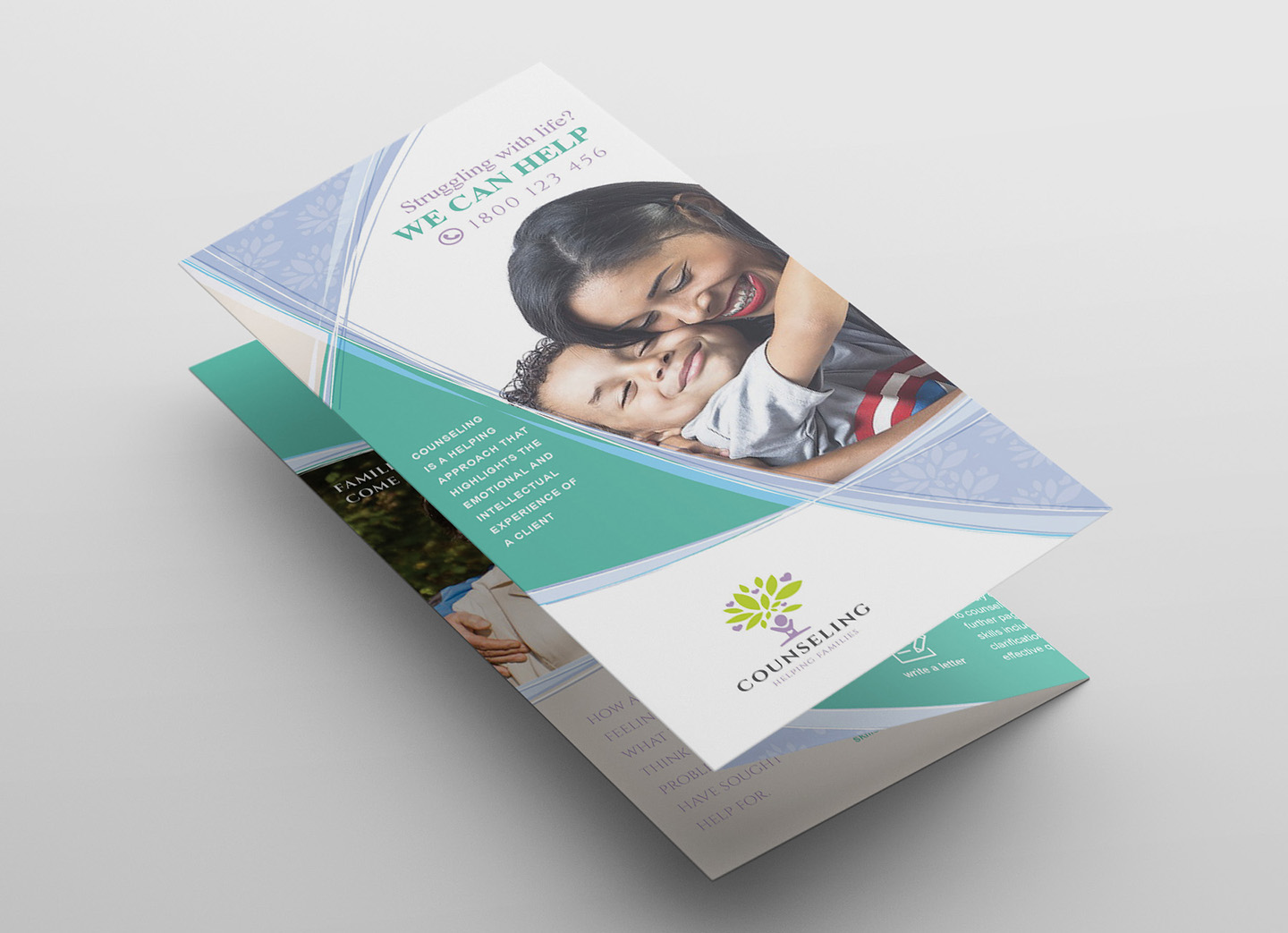 Counselling Service Tri-Fold Brochure Template example image 3