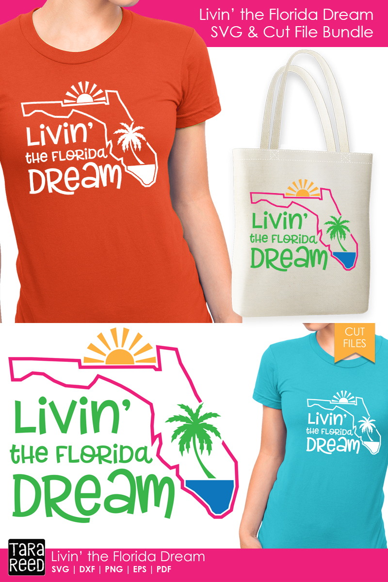 Florida - Livin' the Dream - SVG and Cut Files for Crafters example image 2
