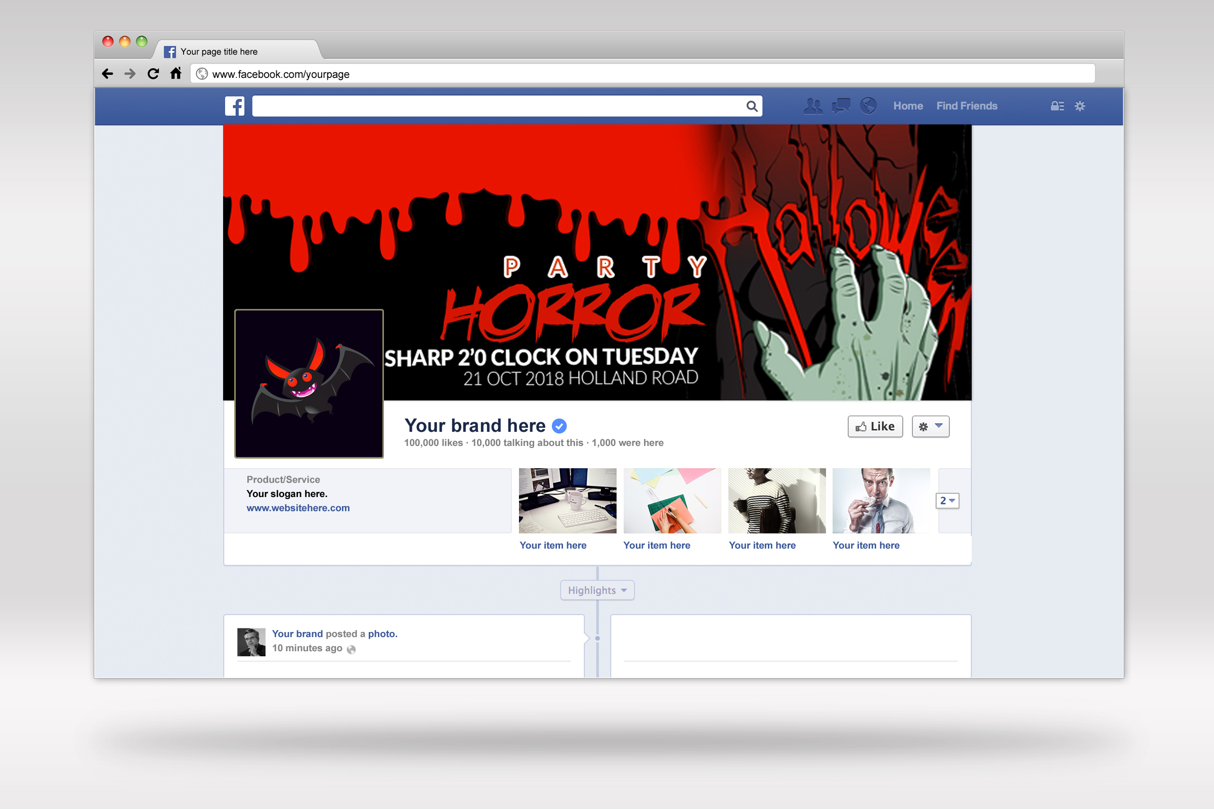 Halloween Horror Night Facebook Timeline Cover example image 2
