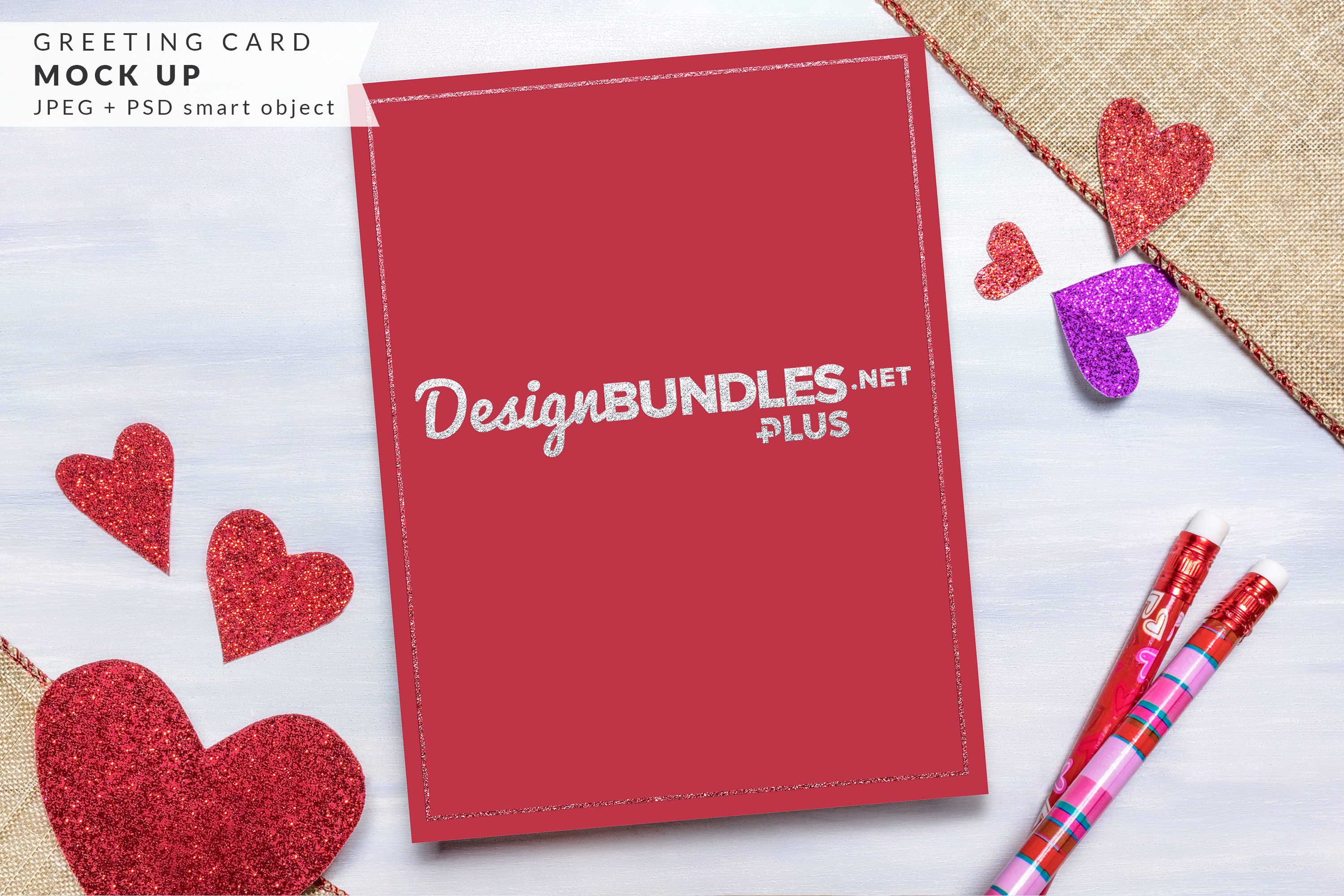 Vertical Greeting Card mock up example image 2