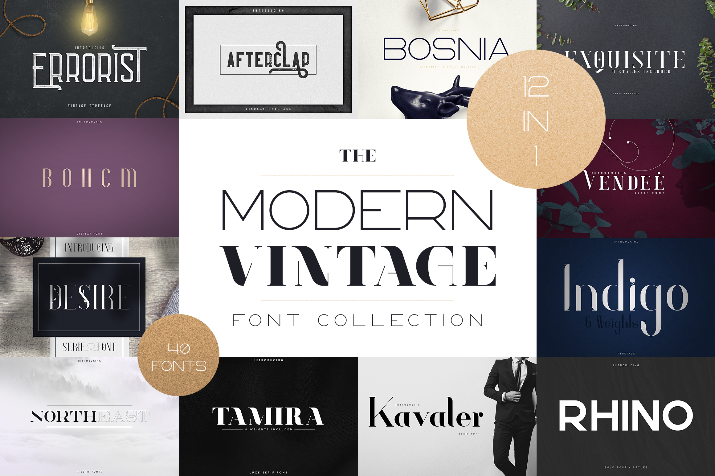 The Modern Vintage Font Collection example image 1