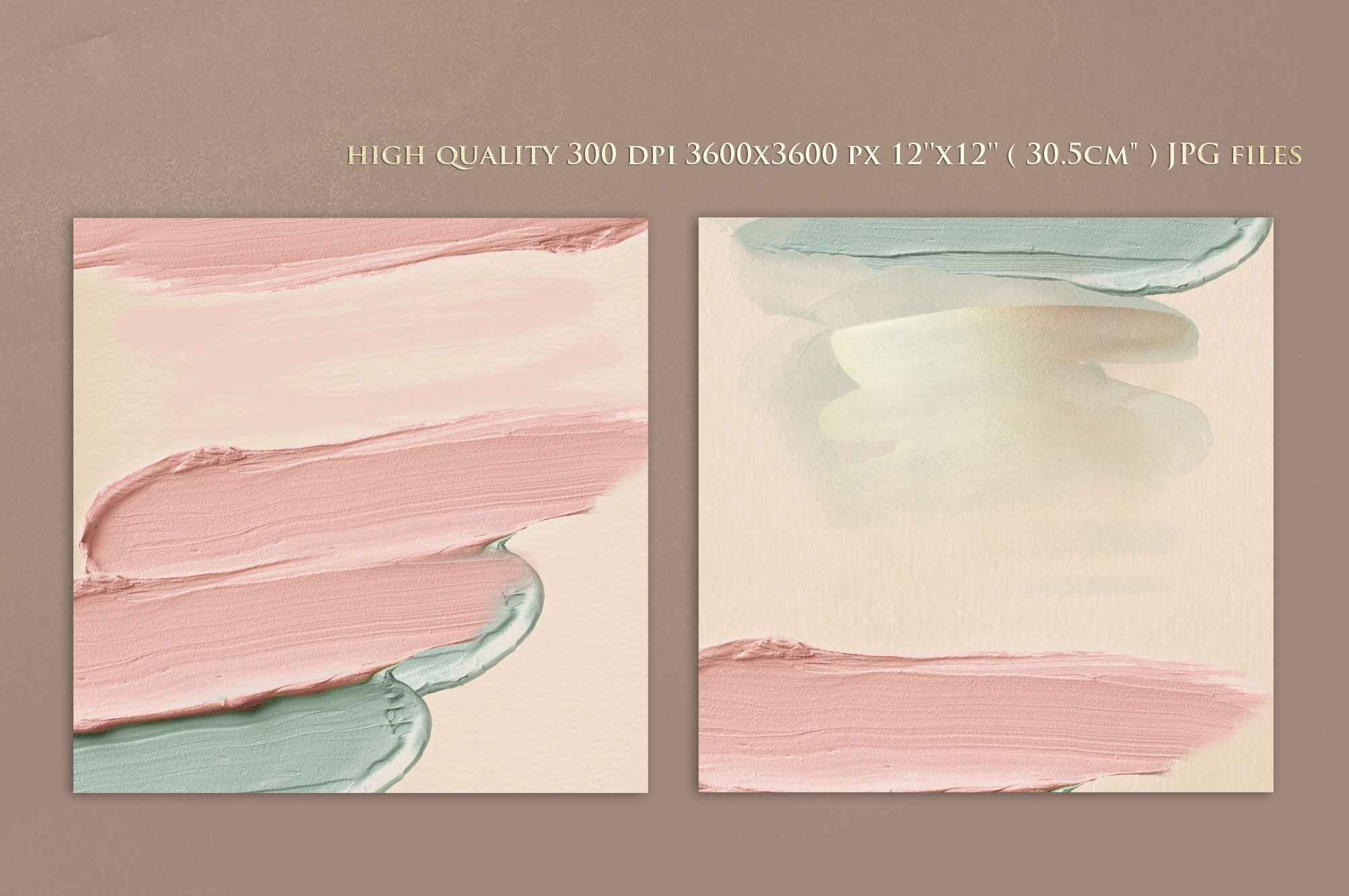 Brush Strokes - Rose Gold Watercolor Backgrounds example image 4