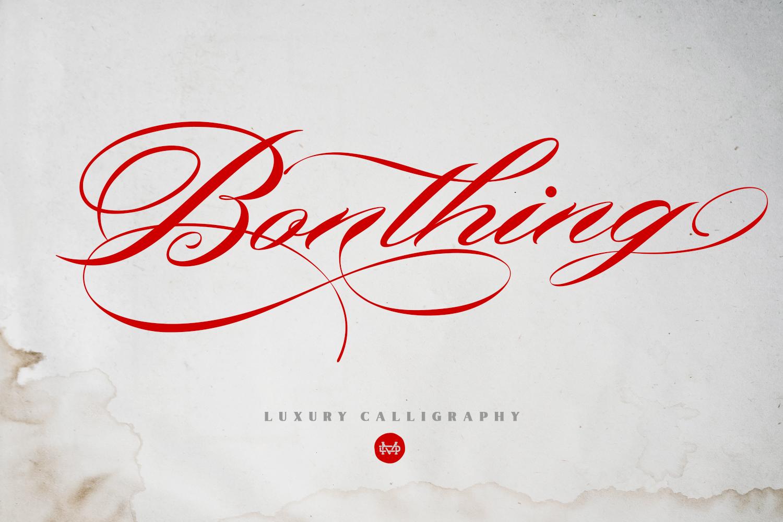 Bonthing Calligraphy example image 1