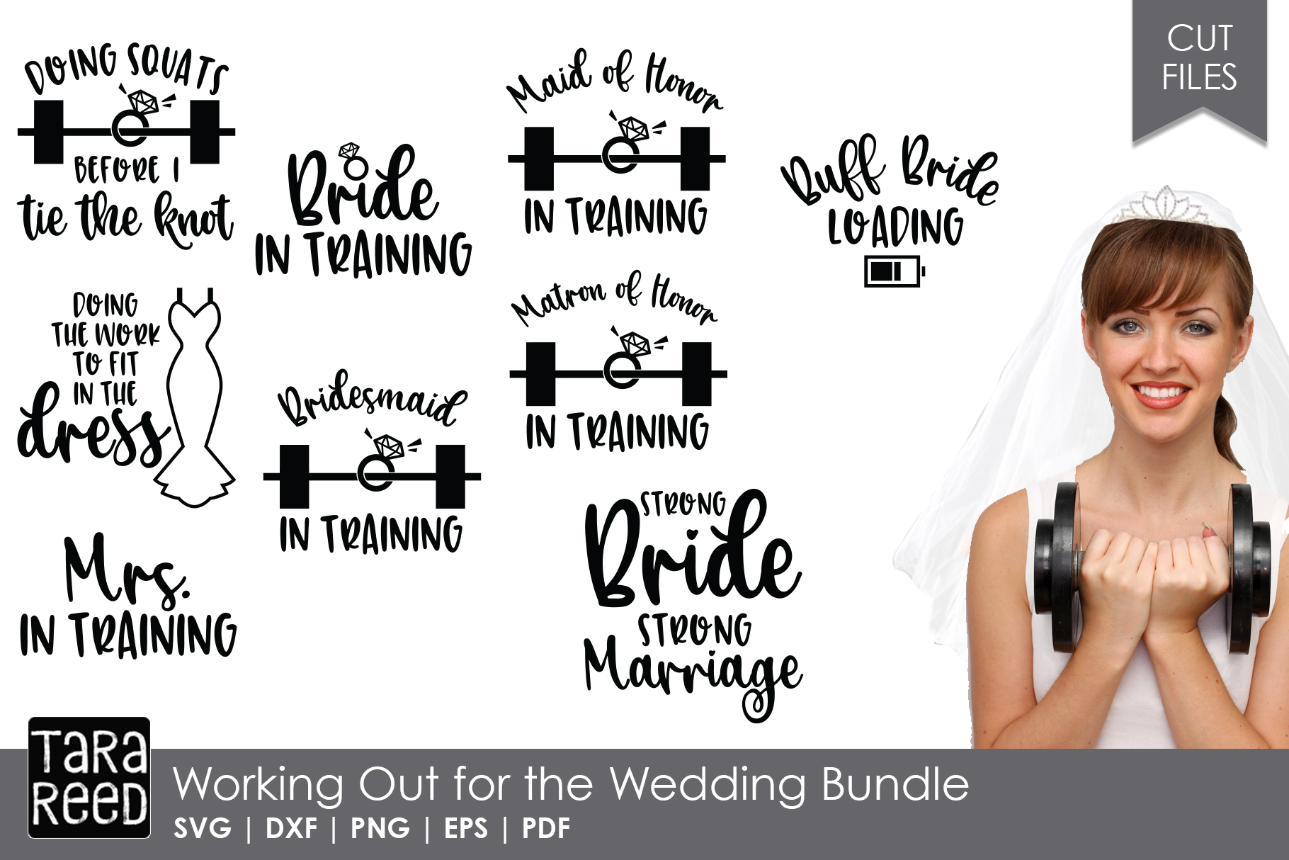 Here Comes the Bride MEGA Bundle - Wedding SVG and Cut Files example image 3