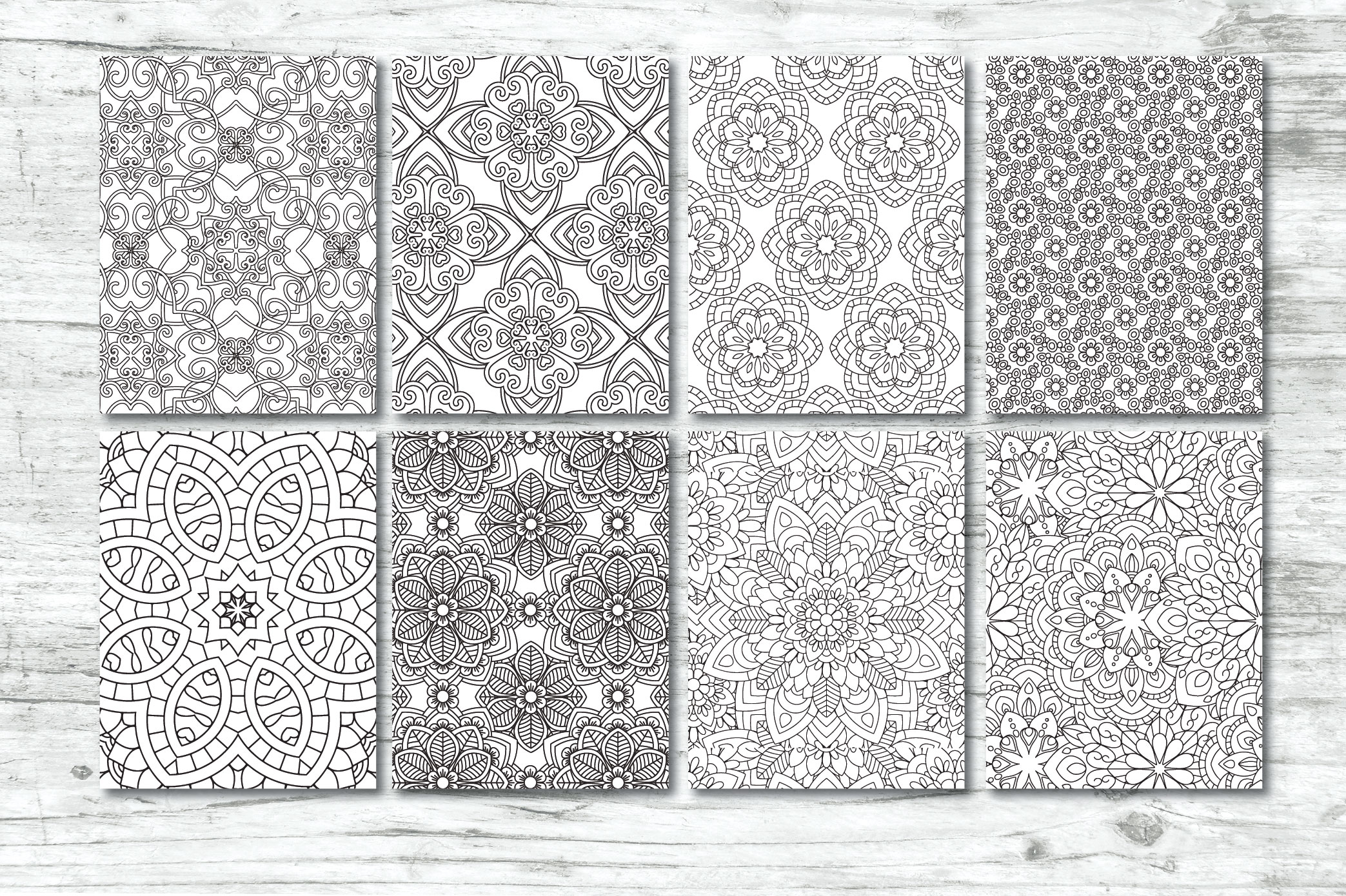 50 Geometric Coloring Pages example image 7