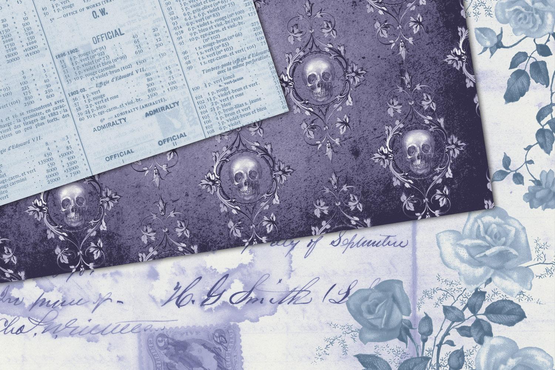 Long Winter Textures - Vintage Digital Paper example image 2