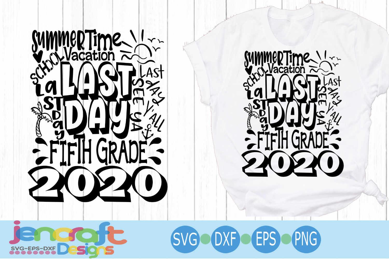 2020 Fifth 5th Grade Last day of school svg Design Cricut example image 1