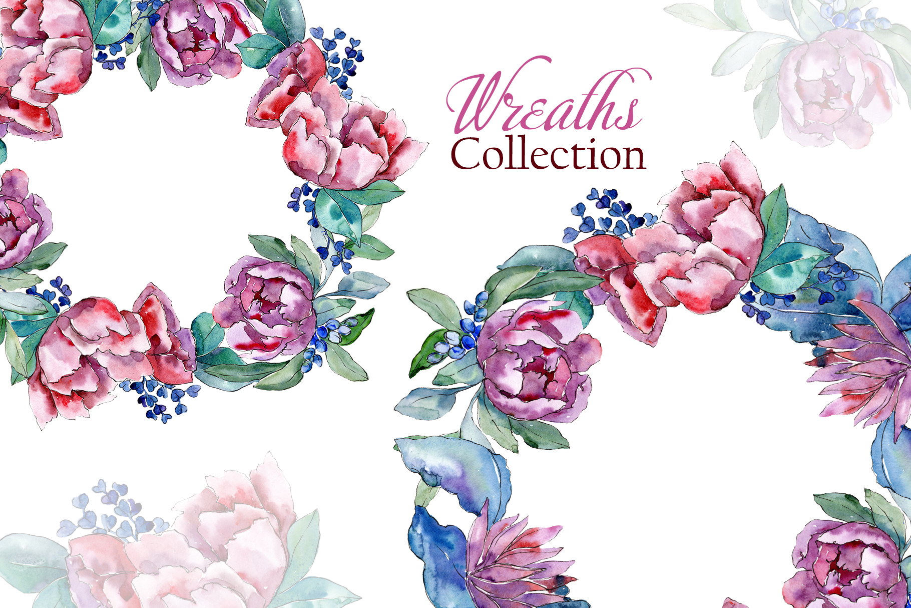 Bouquets with peonies Phuket Watercolor png example image 9