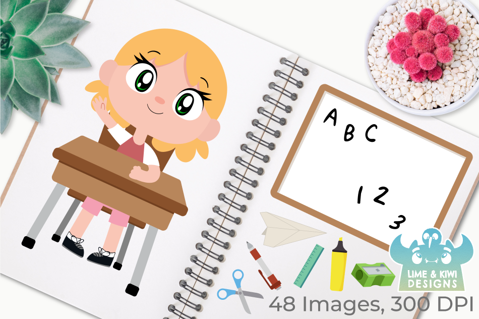 Classroom Clipart, Instant Download Vector Art example image 3