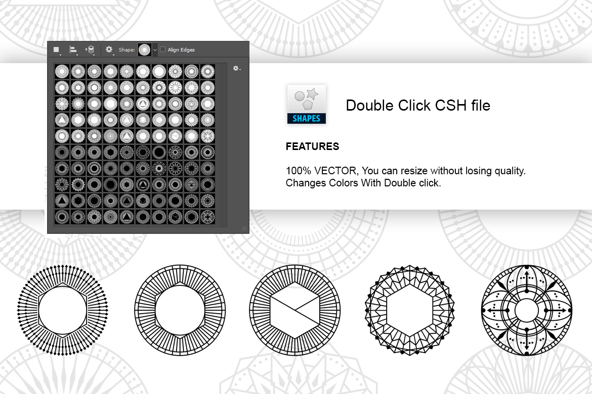 100 Geometric Vector Shapes CSH example image 7