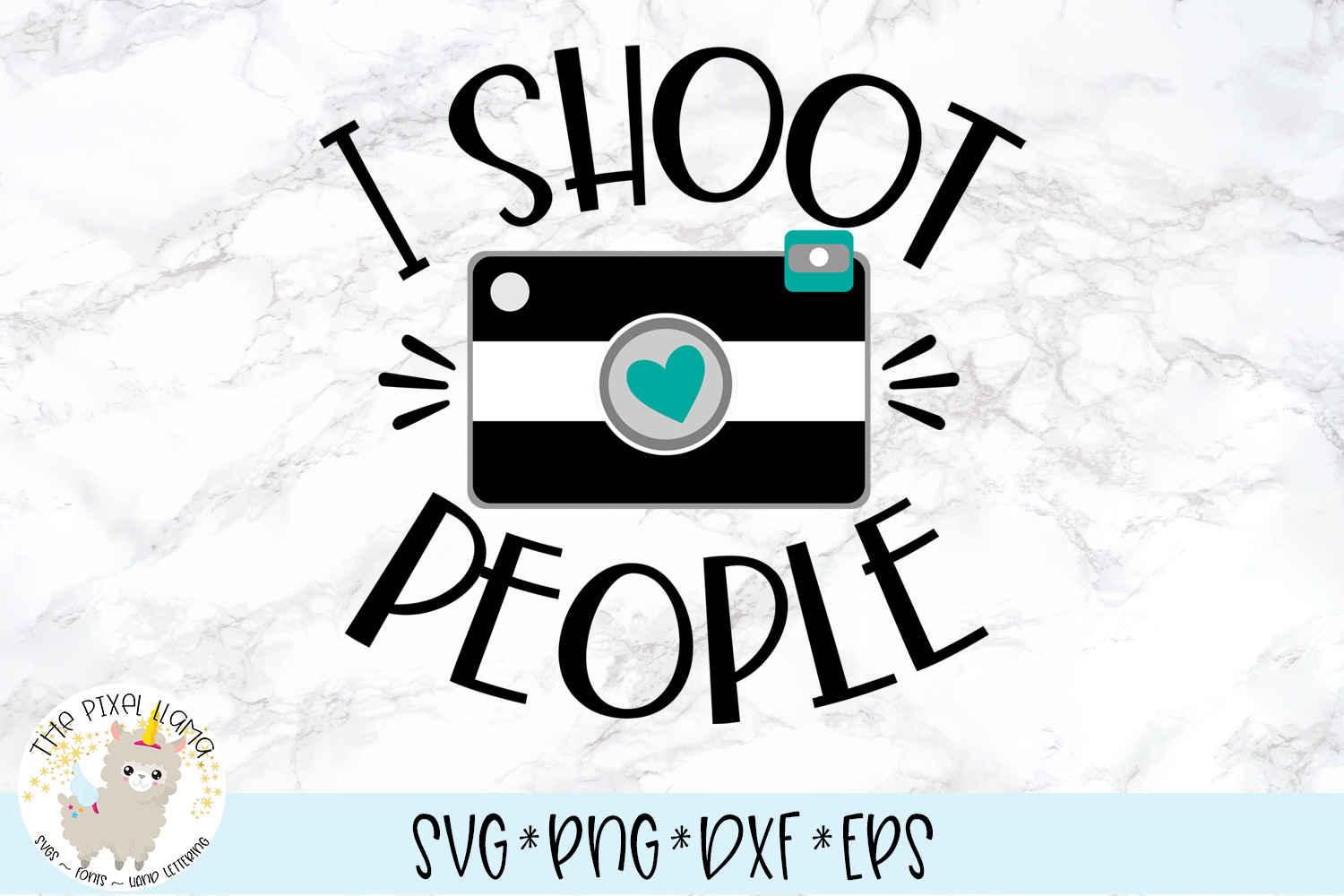 I Shoot People Photography SVG Cut File example image 1