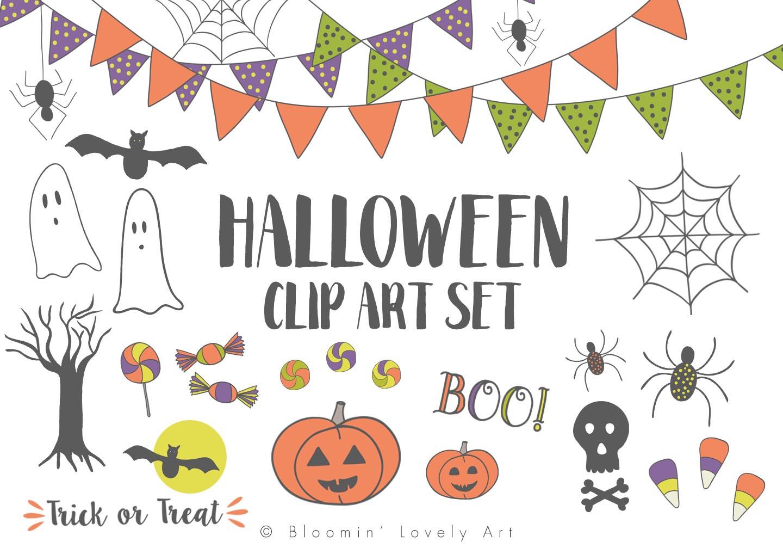 Halloween Clip Art Set example image 1