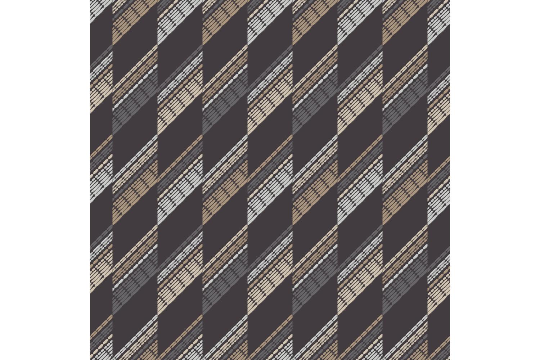 Ethnic boho ornament. Zigzag. Set of 10 seamless patterns. example image 2