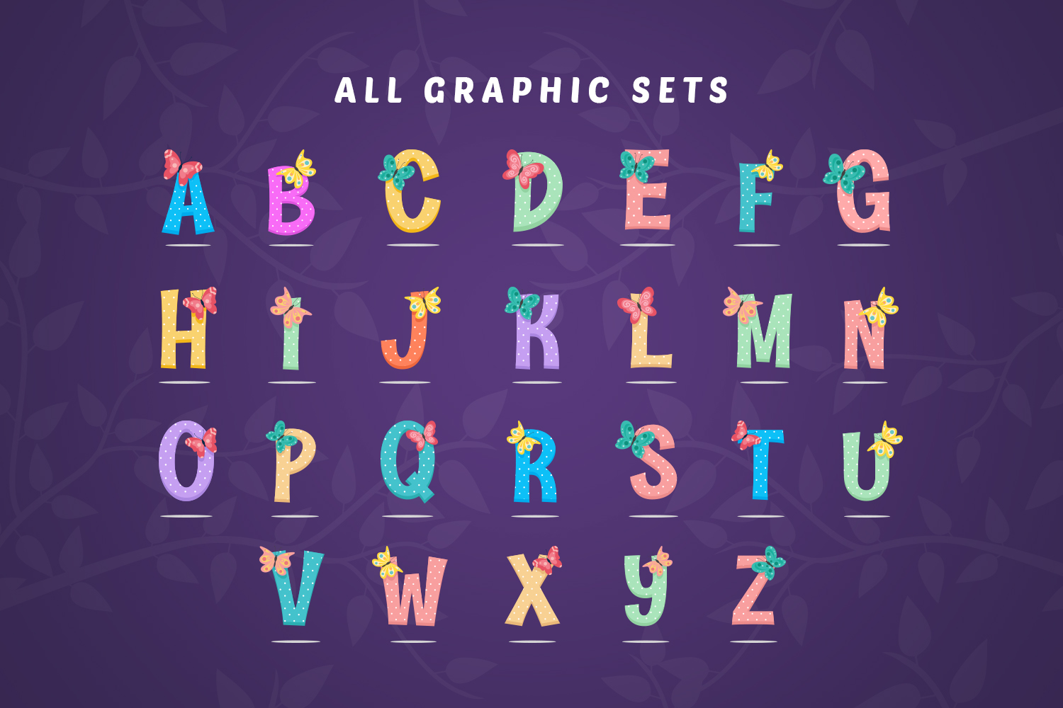 Butterfly Alphabet Sets example image 4