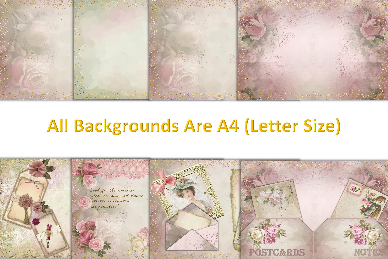 Shabby Chic Vintage Journaling Kit & Free Ephemera & clipart example image 8