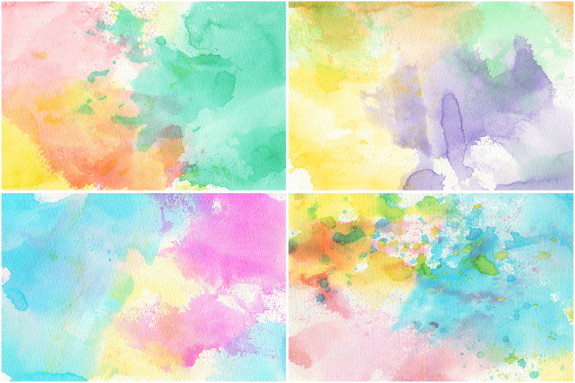 50 Watercolor Backgrounds 02 example image 12