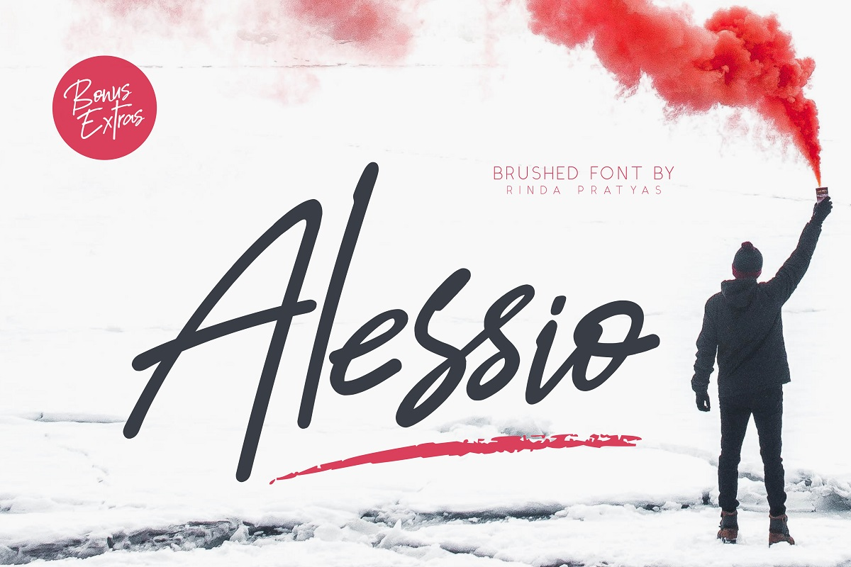 Alessio Brushed Script Font example image 1
