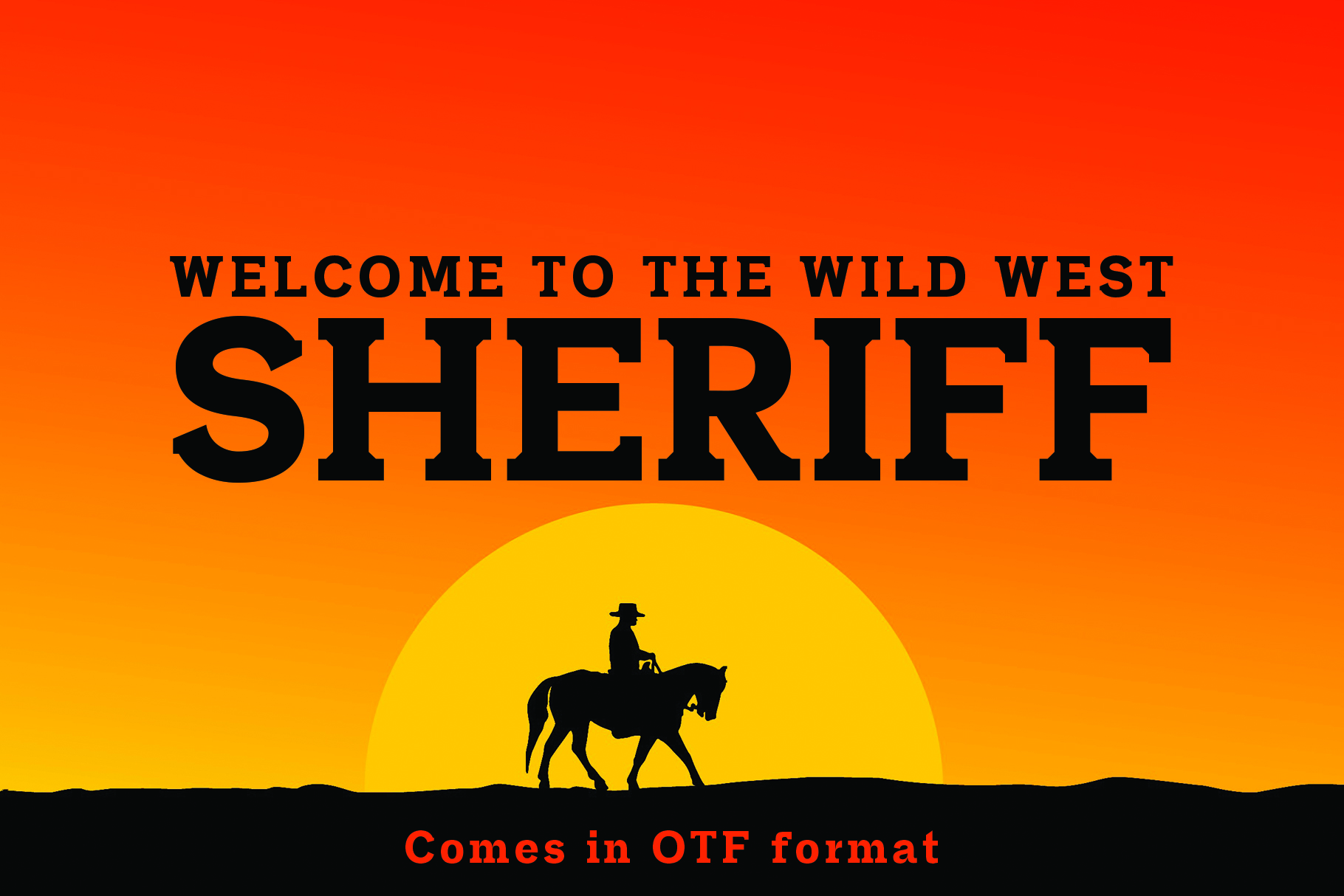 SHERIFF A Font of the Wild West example image 1