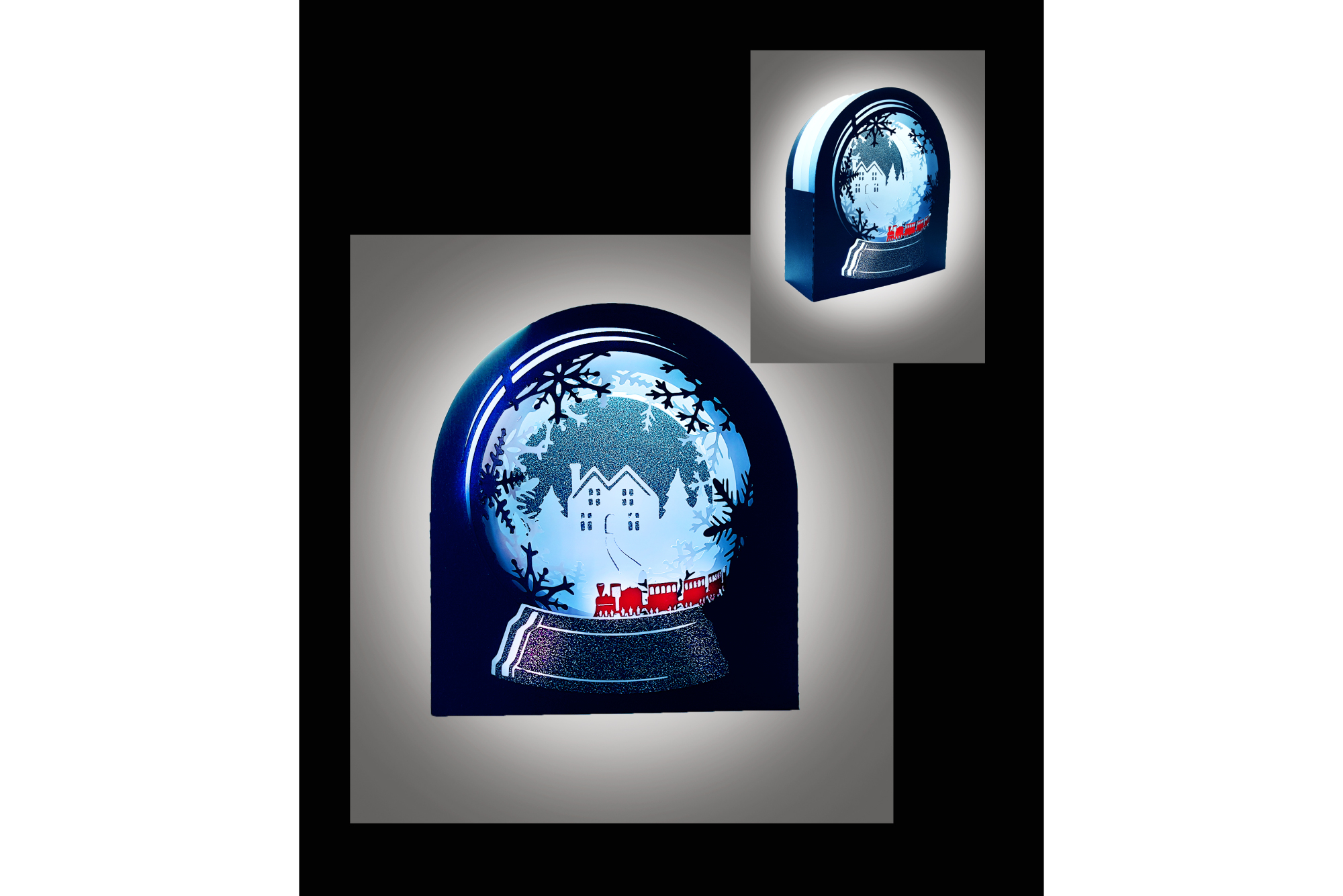 Snow Globe Winter wonderland Train example image 3