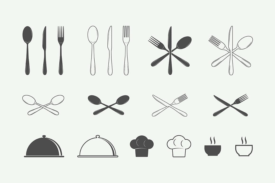 Vintage Restaurant Emblems Bundle example image 7