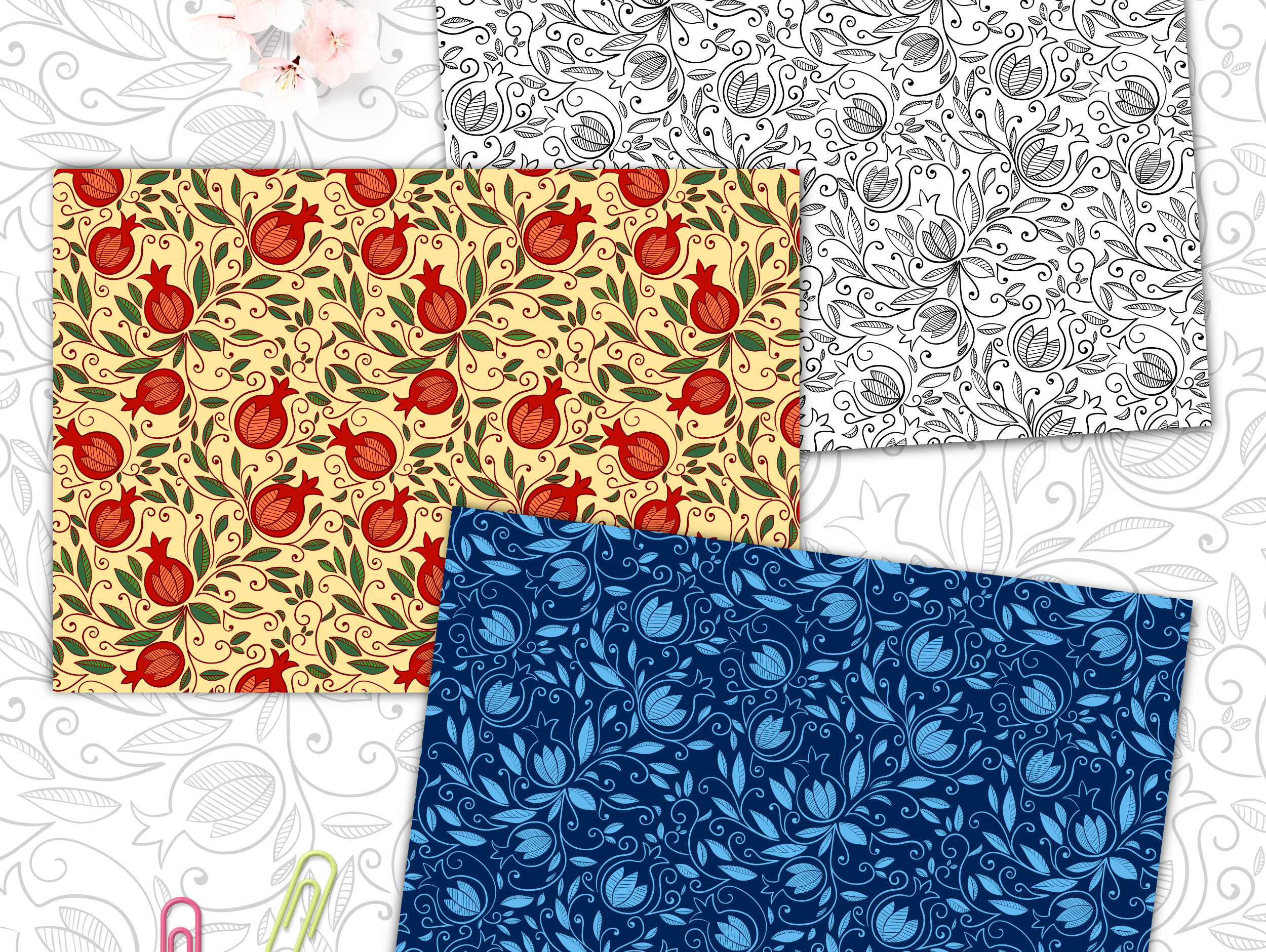 Pomegranate - Seamless Patterns example image 3