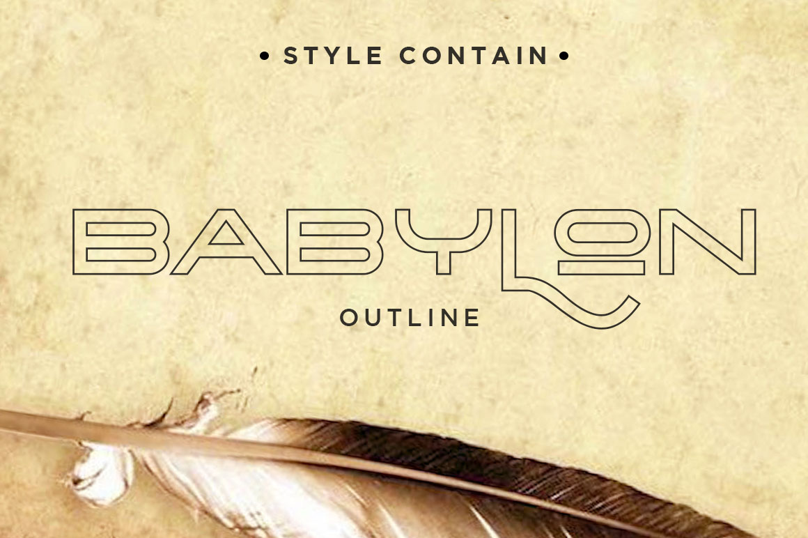 The Babylon Strong Typeface example image 8