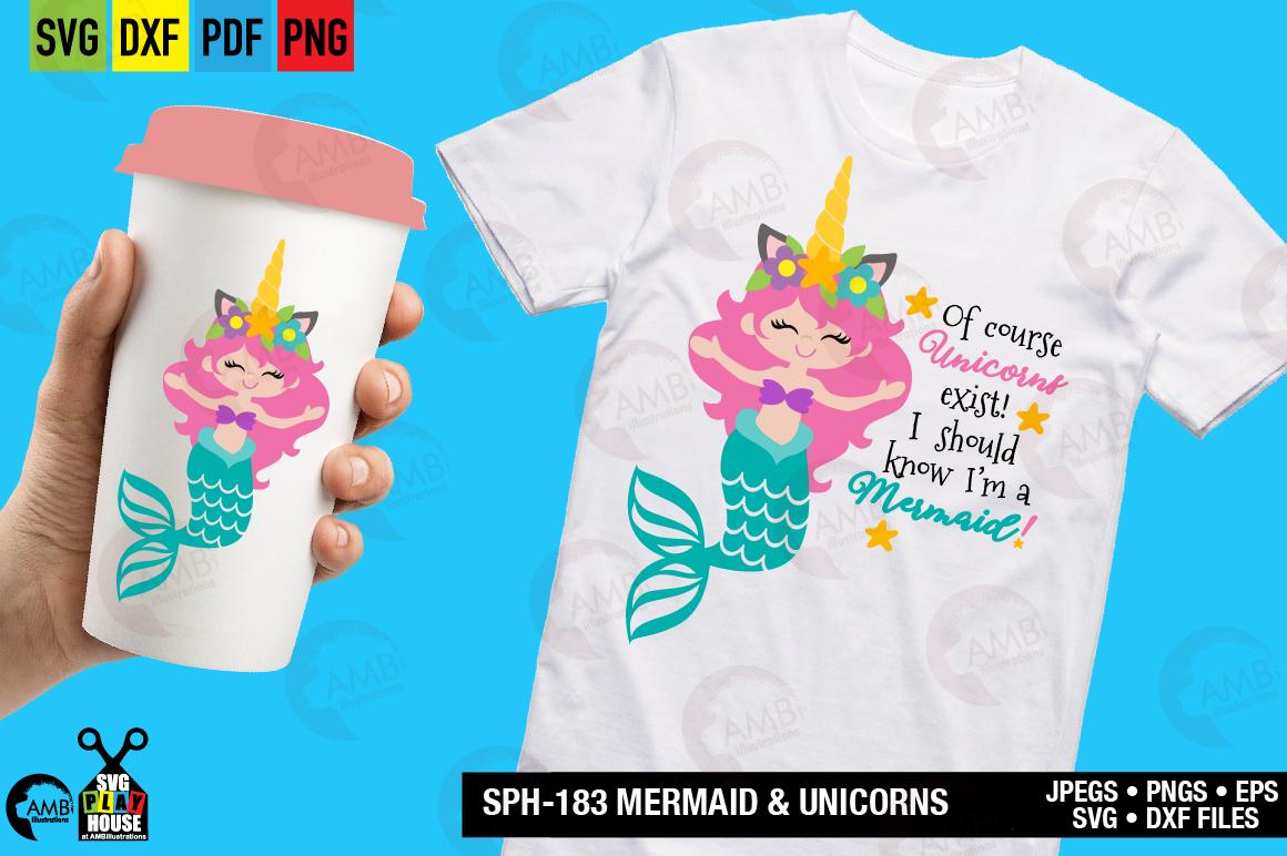 Mermaid and unicorns svg SPH-183 example image 1