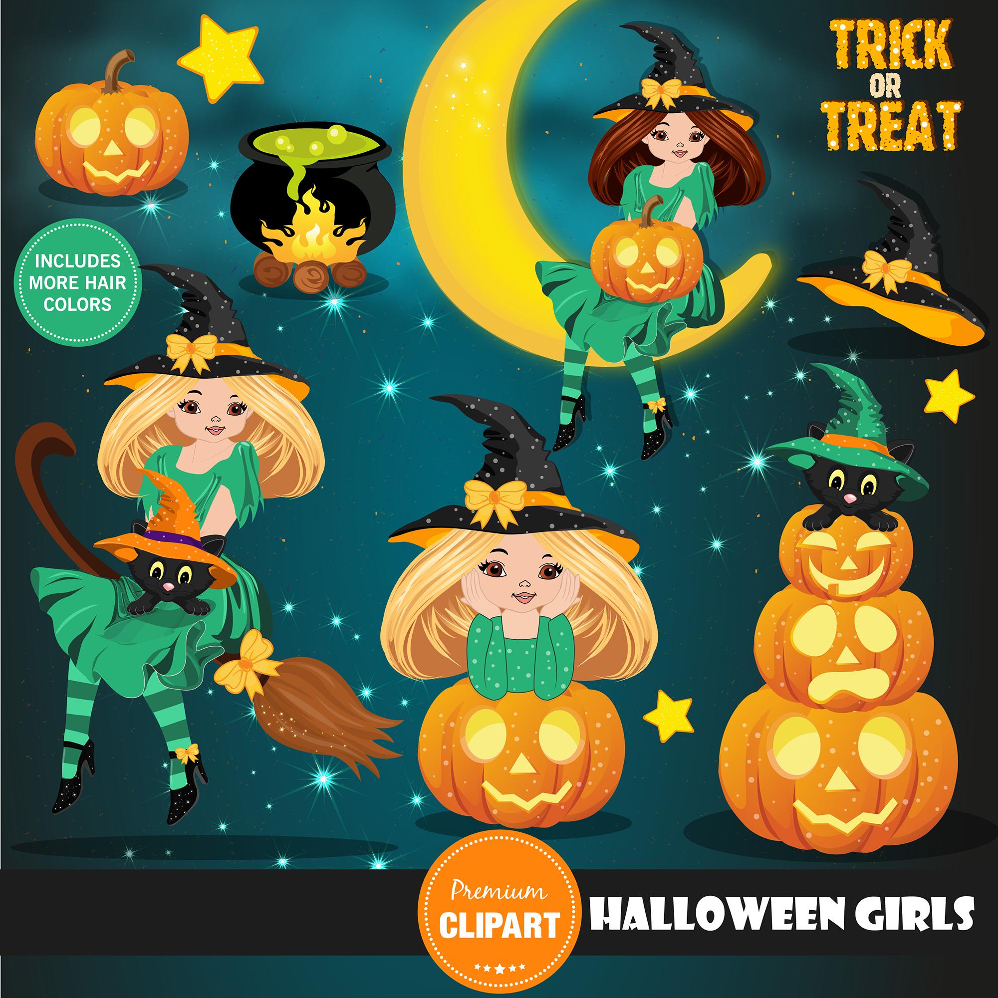 Halloween bundle, Halloween illustrations example image 15