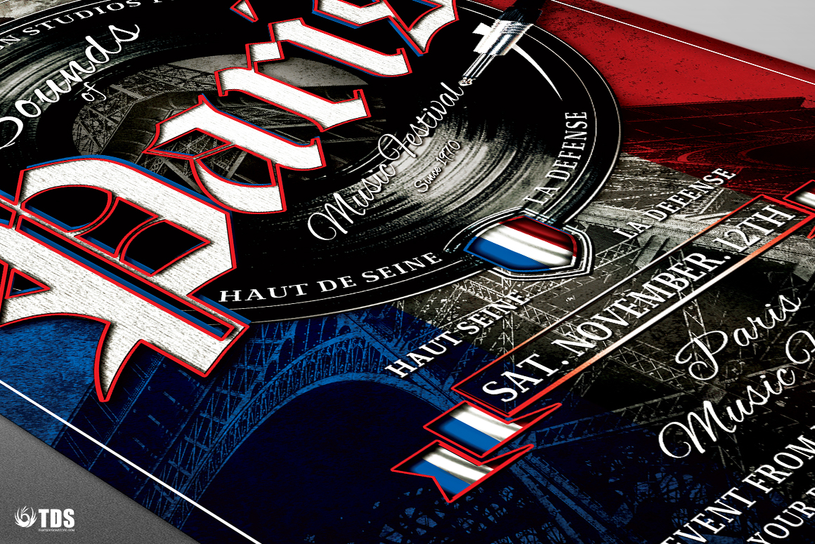Sounds of Paris Flyer Template example image 5