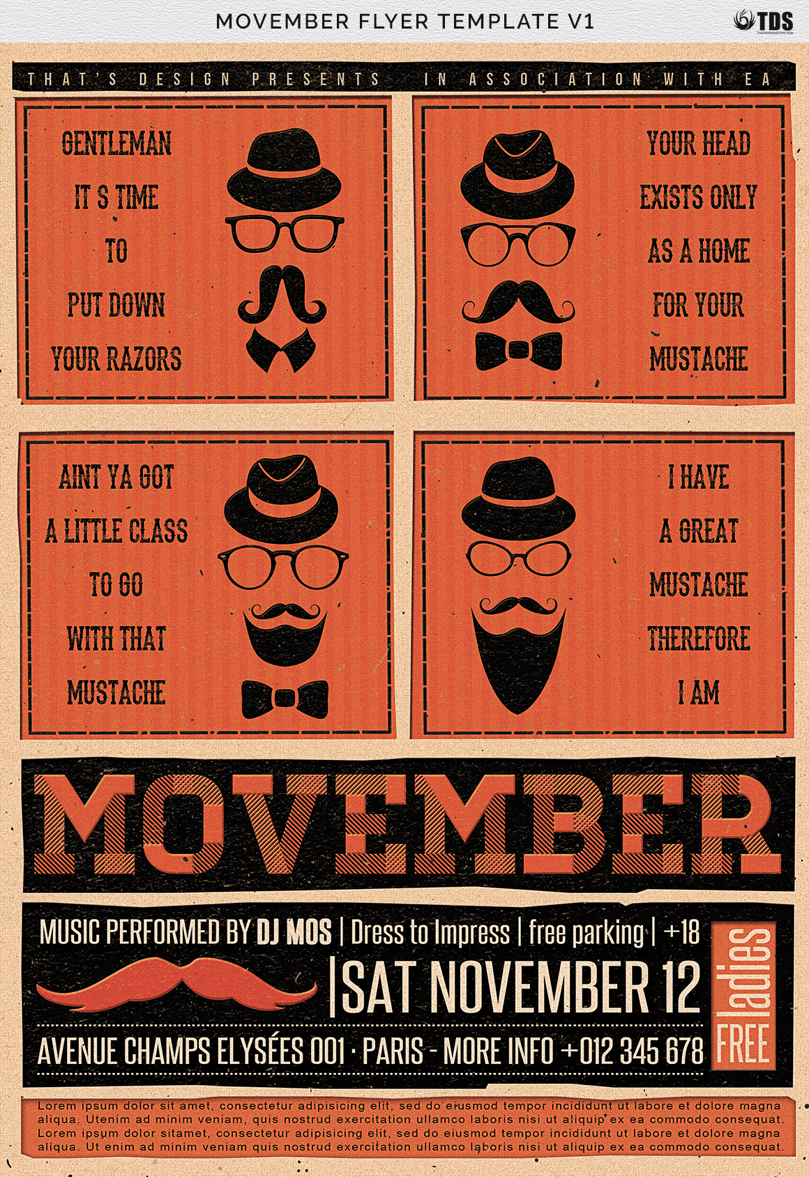 Movember Flyer Template V1 example image 14
