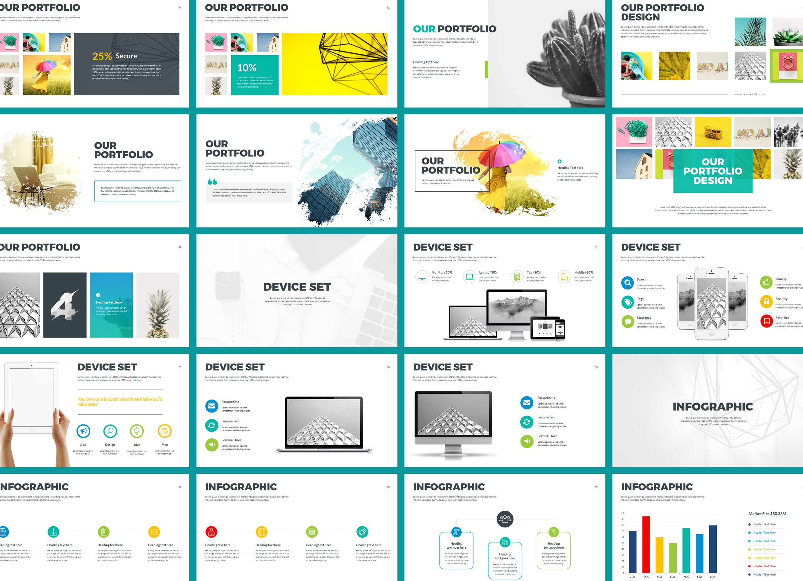 Four Business Powerpoint Presentation Template example image 4