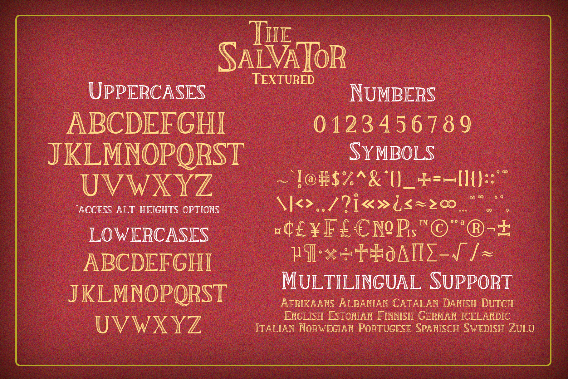 The Salvator - Vintage Font Set example image 9