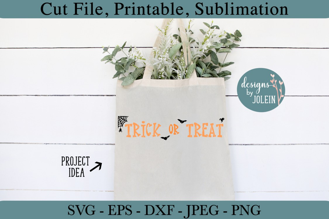 Trick or Treat SVG, png, eps, jpeg, DXF, sublimation example image 2