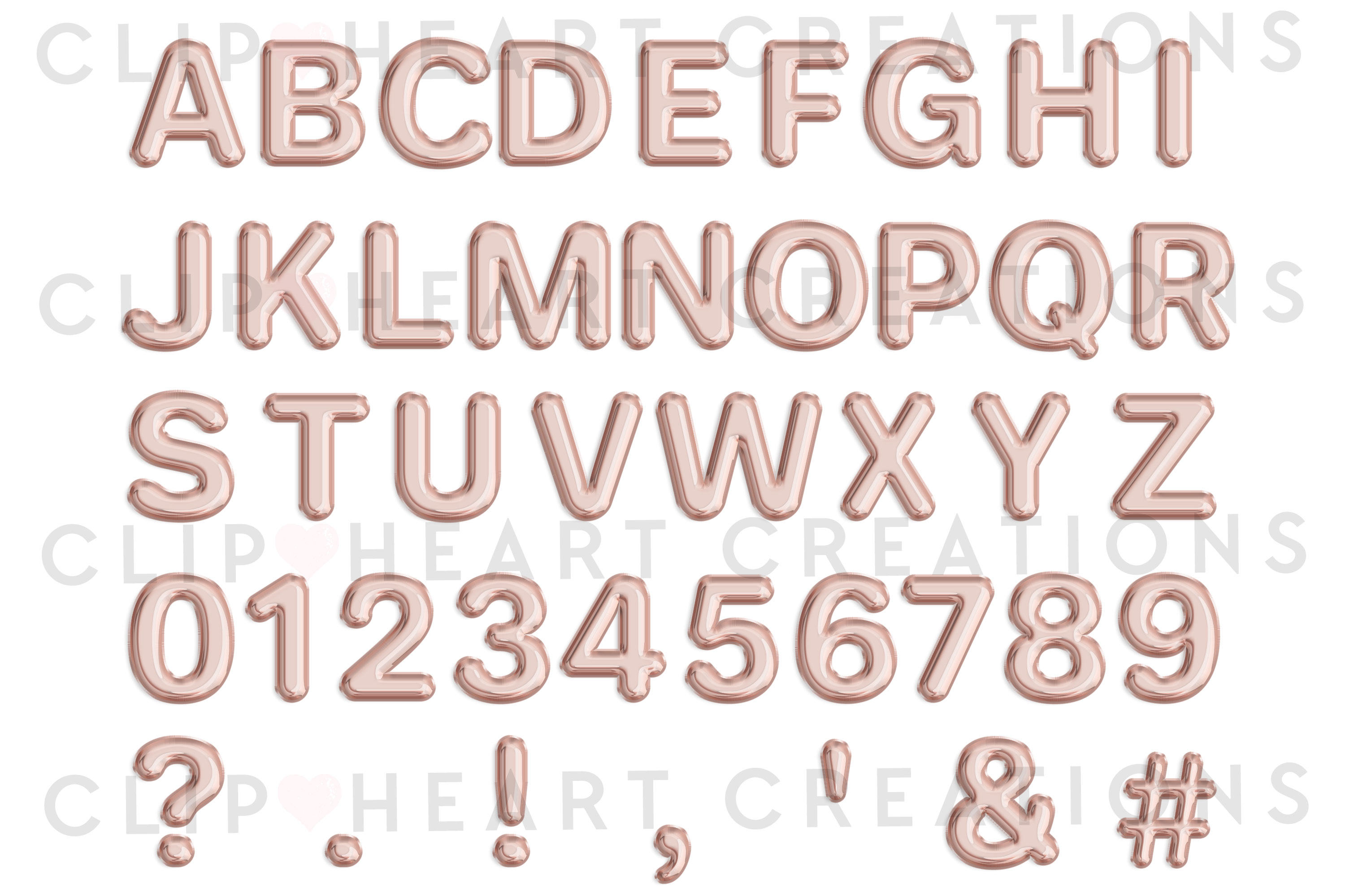 Rose Gold Foil Balloon Alphabet & Numbers example image 2