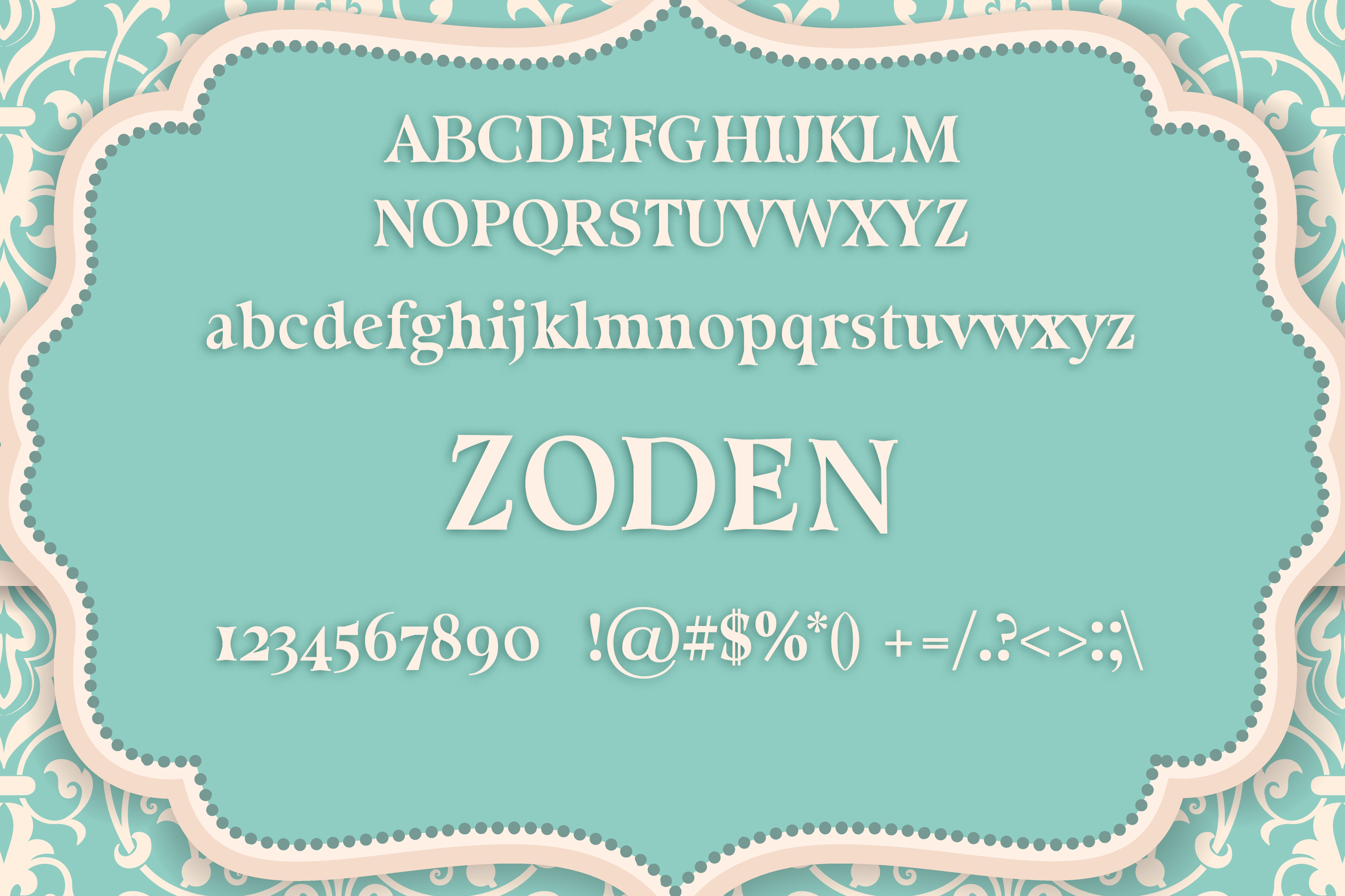 Zoden Font example image 2