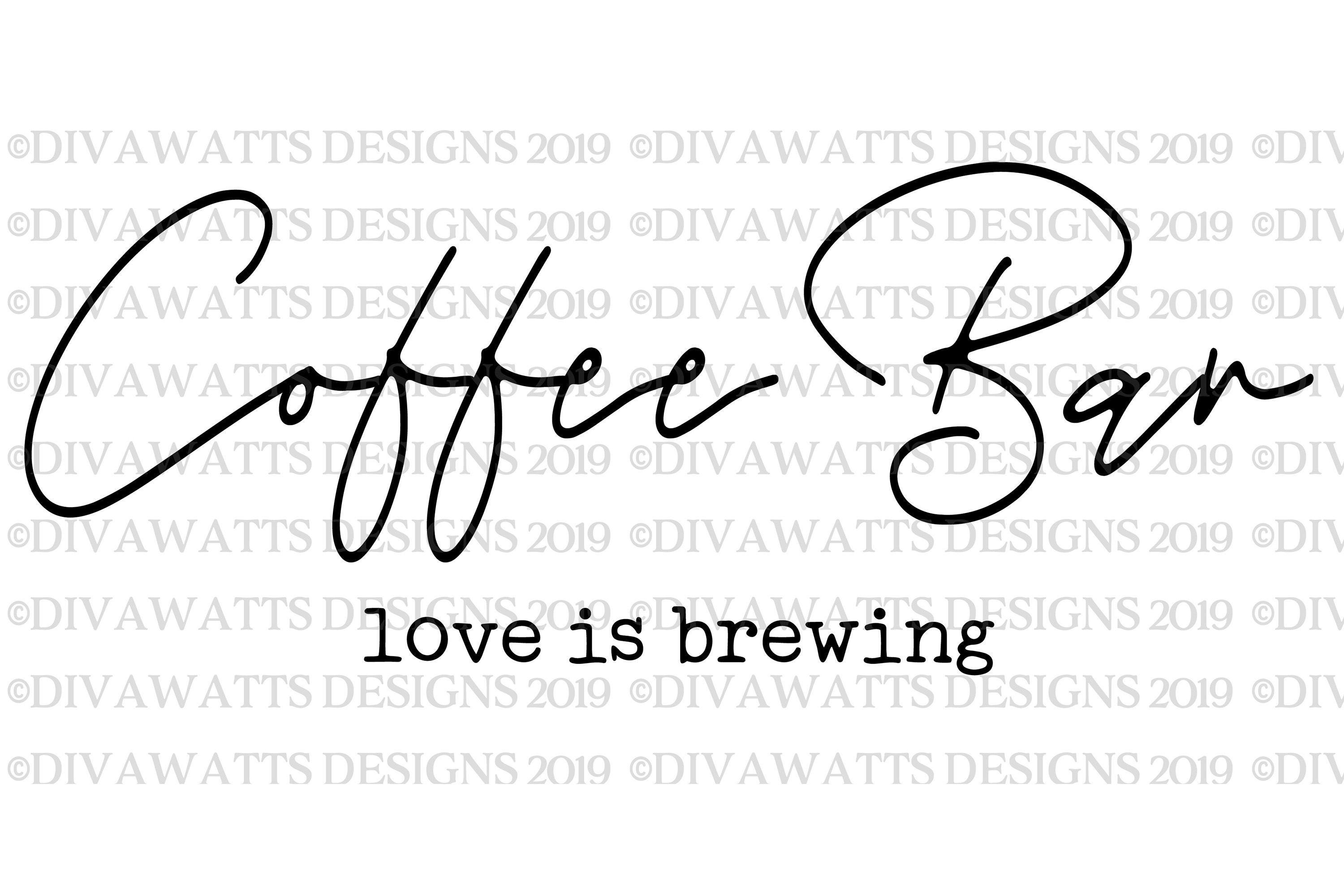 Coffee Bar Love Is Brewing - Kitchen Farmhouse Sign SVG example image 3