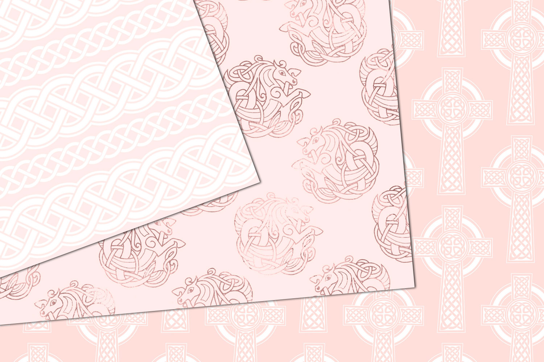 Blush Pink Celtic Digital Paper example image 2