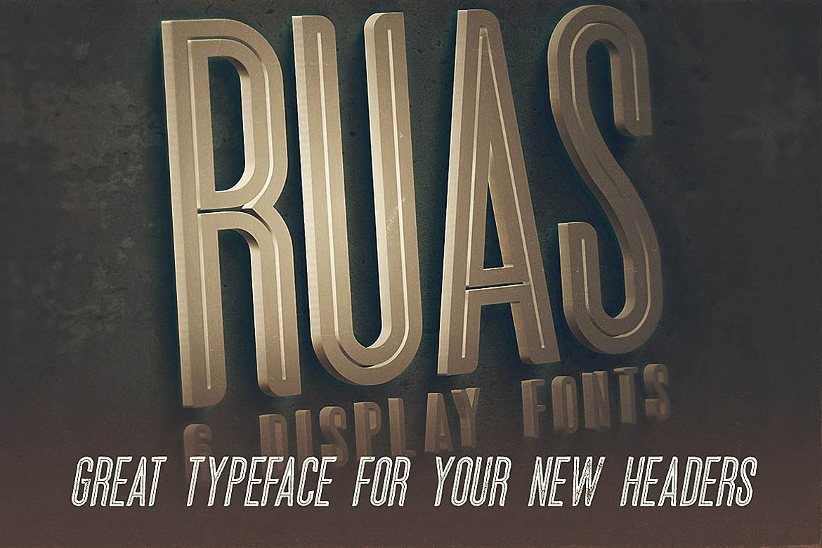Ruas - Vintage Style Font example image 3