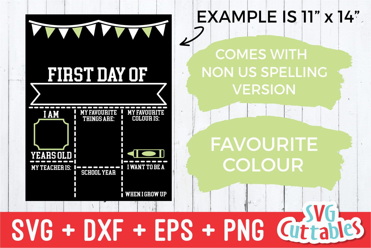 First Day of School, Last Day of School|svg Cut File example image 2