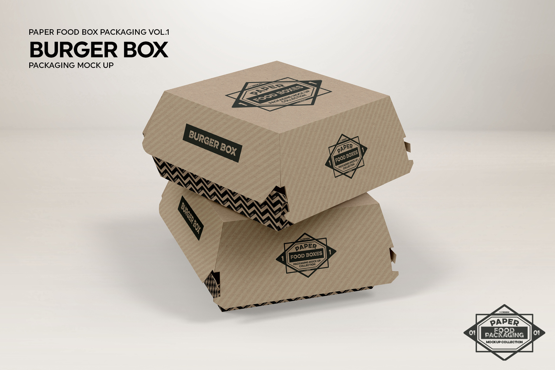 VOL.1 Food Box Packaging MockUps example image 2