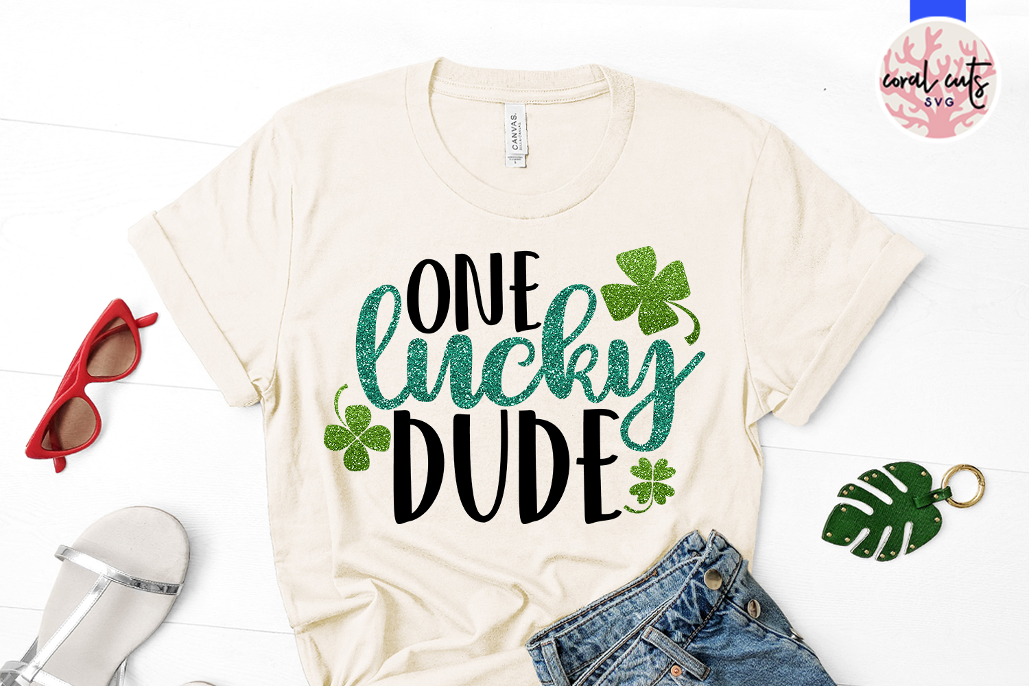 One lucky dude - St. Patrick's Day SVG EPS DXF PNG example image 2