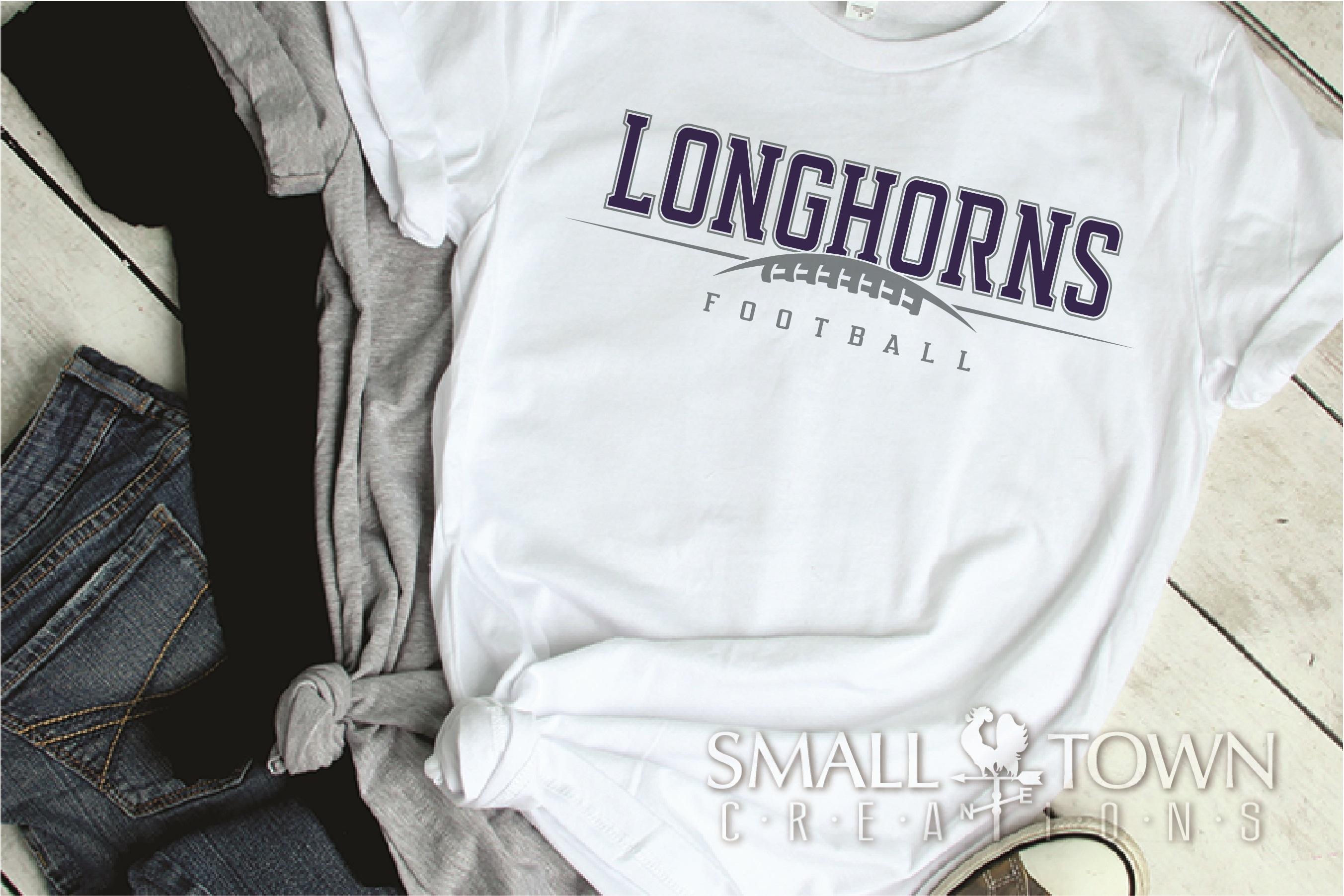 Longhorn, Football Team, Logo, Sport, PRINT, CUT & DESIGN example image 2