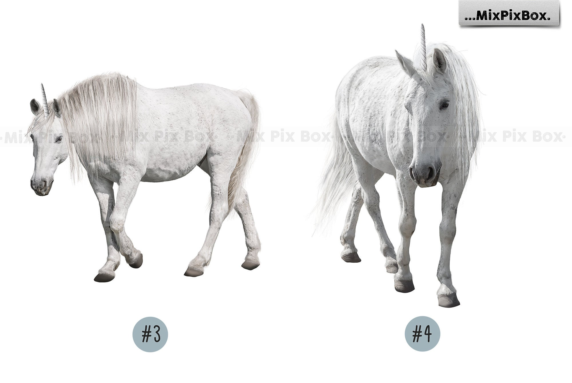 Unicorn PNG Overlays and Backdrops Pack example image 8