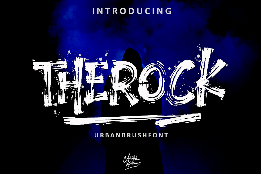 THEROCK - URBAN BRUSH FONT example image 1