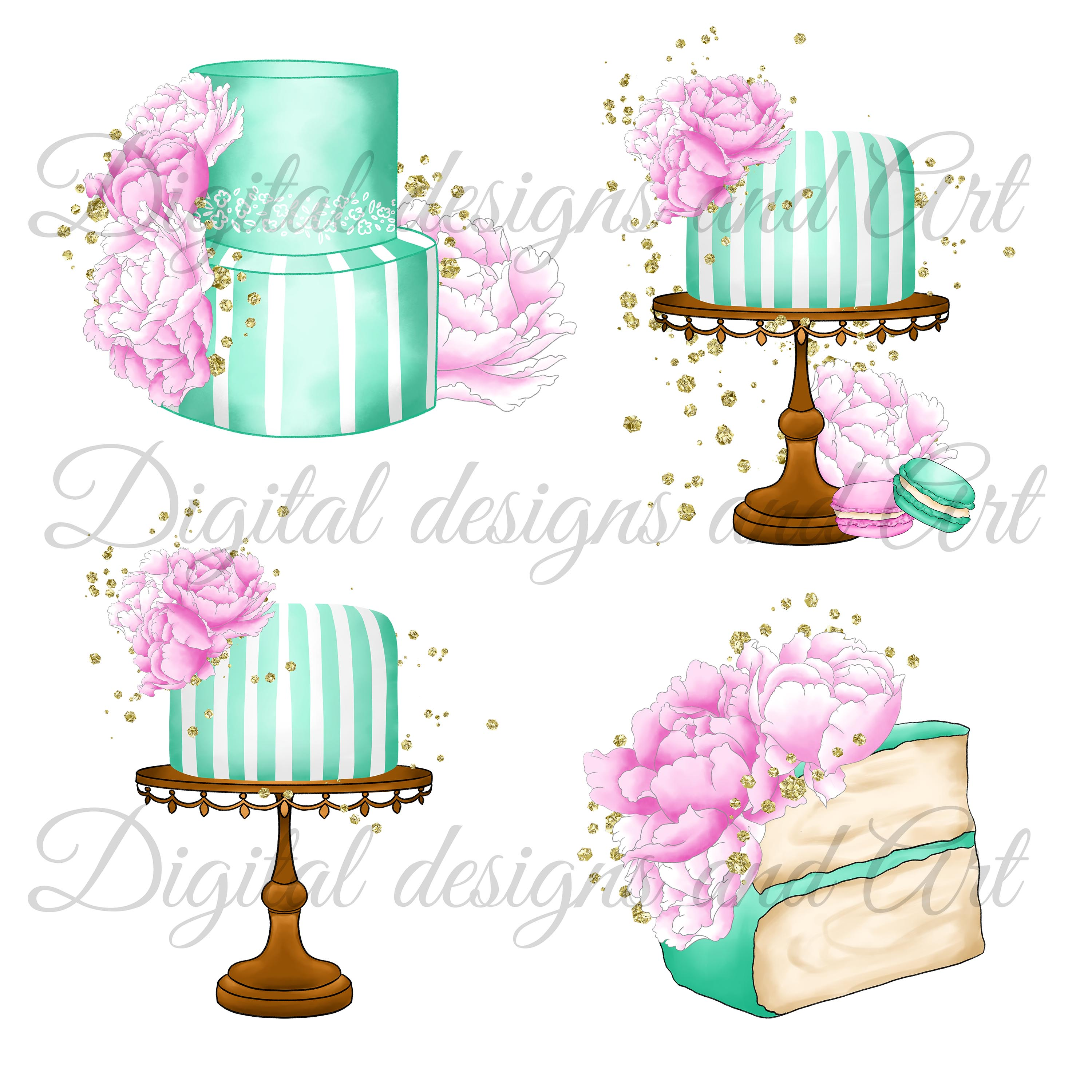 Fashion cakes clipart example image 2