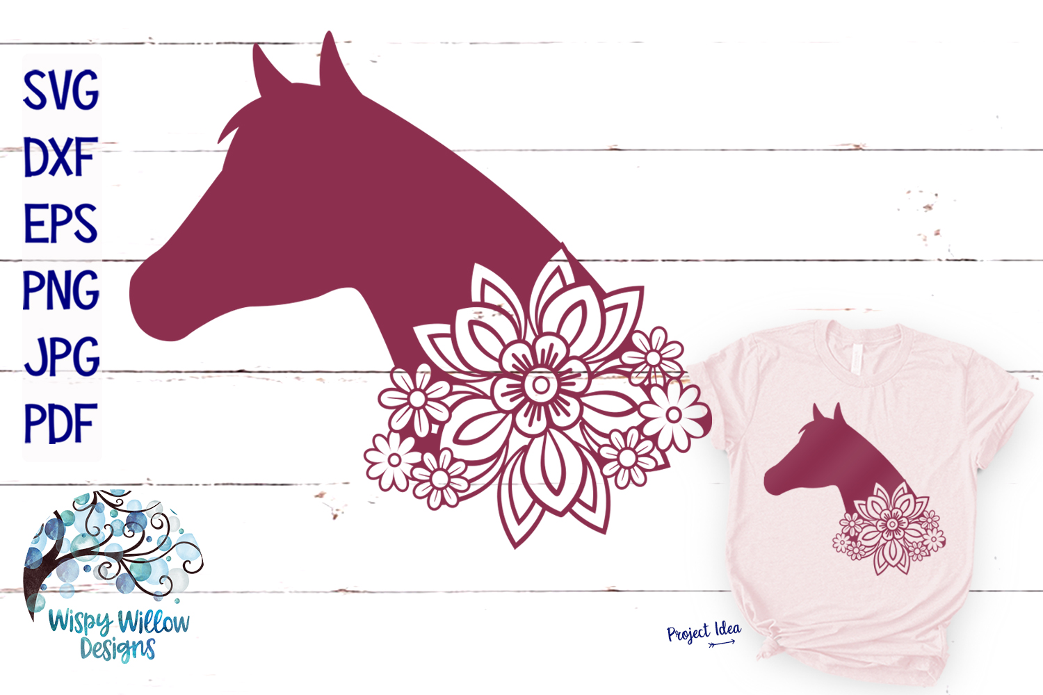 Floral Animal Bundle | Floral Animal SVG Cut Files example image 4