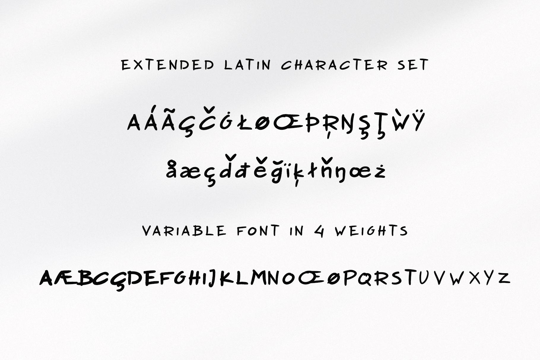 Nadoco Variable Handwritten Font example image 7