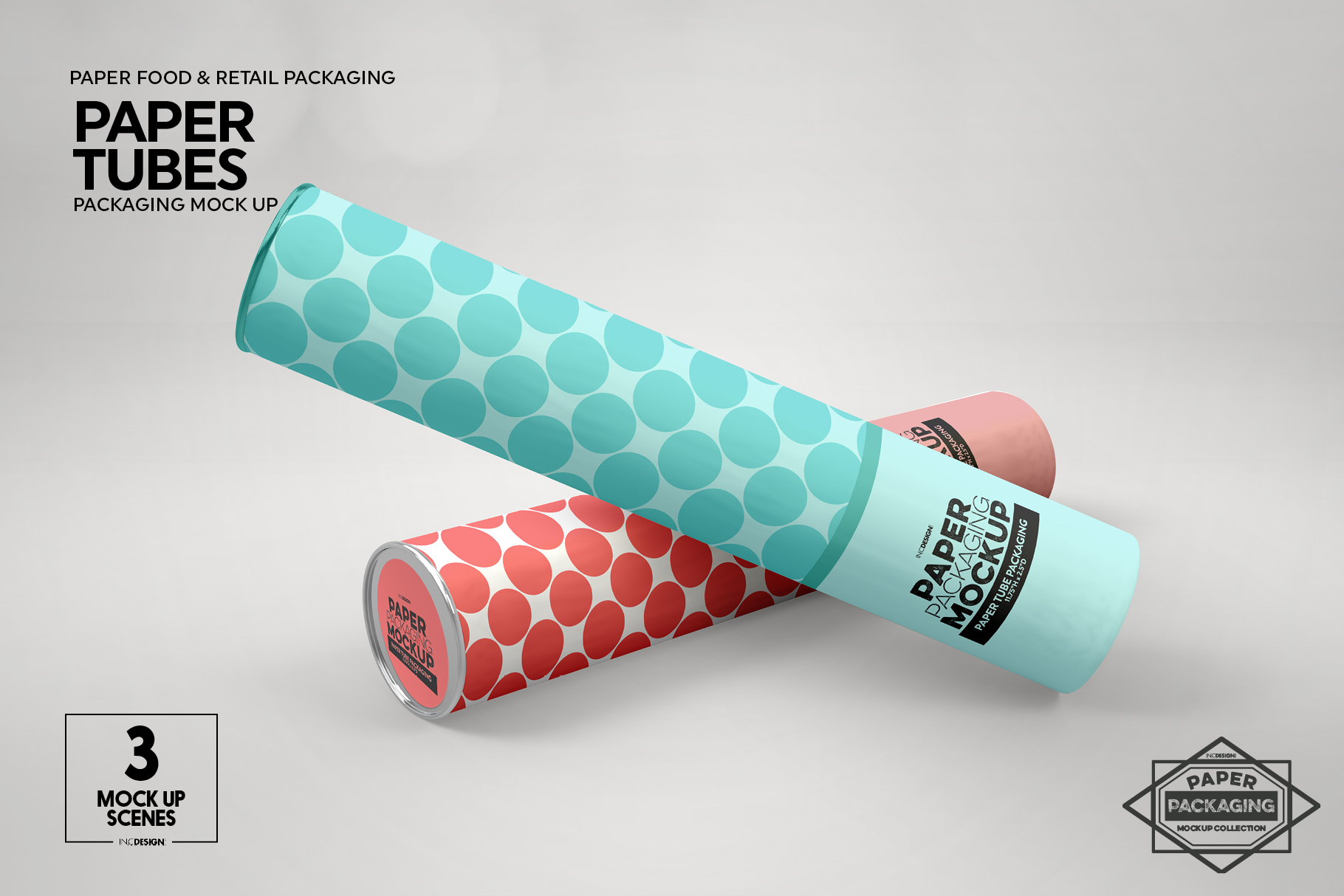 Paper Tube Packaging Mockup example image 8