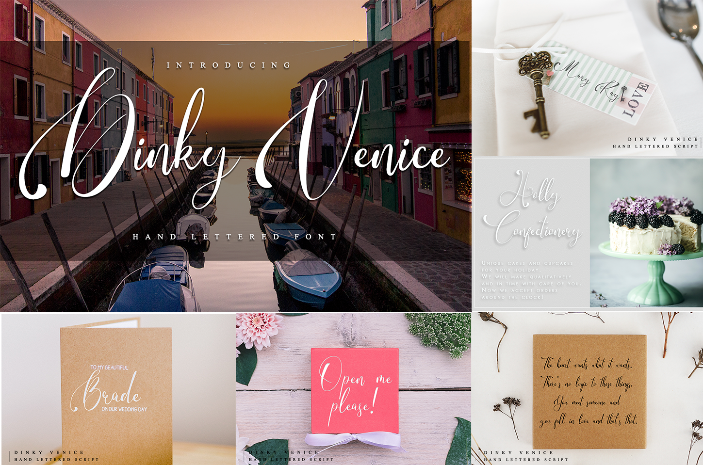 Handwritten Font Bundle 5 in 1 example image 3